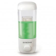 Диспенсер для жидкого мыла ЛАЙМА, наливной, 0,5 л, ABS-пластик, белый, 601792