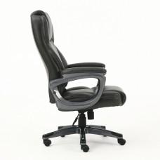 """Кресло офисное BRABIX PREMIUM """"Favorite EX-577"""", пружинный блок, рециклированная кожа, серое, 531935"""