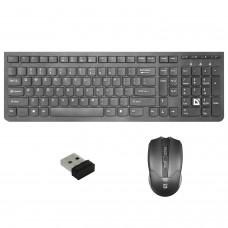 Набор беспроводной DEFENDER Columbia C-775RU, USB, клавиатура, мышь 3 кнопки + 1 колесо-кнопка, черный, 45775