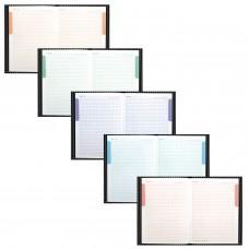 """Блокнот БОЛЬШОЙ ФОРМАТ (205х290 мм) А4, 80 л., твердый переплет, выбор. лак, блок 5 цветов, клетка, HATBER, """"Carbon Style"""", 80ББ4влВ1 14359, B197103"""