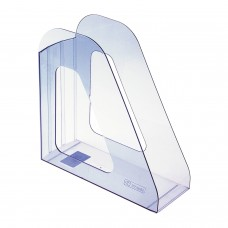 """Лоток вертикальный для бумаг СТАММ """"Фаворит"""" (235х240 мм), ширина 90 мм, тонированный голубой, ЛТ702"""