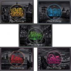Альбом для рисования А4 48 л., скоба, выборочный лак, HATBER, 205х290 мм, 'Города мира', 48А4вмВ