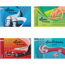 Альбом для рисования А4 48 л., спираль, обложка картон, HATBER, 205х290 мм, 'Вихрь эмоций' (4 в спайке), 48А4Всп