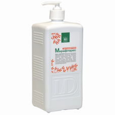 Антисептик для рук и поверхностей спиртосодержащий (70%) с дозатором 1л МИРАФЛОРЕС, дезинфицирующий, жидкость
