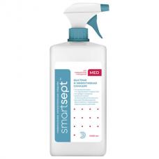 Антисептик для рук и поверхностей спиртосодержащий (70%) с распылителем 1л SMARTSEPT MED, дезинфицирующий, жидкость