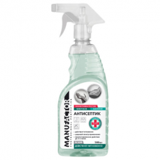 Антисептик для рук и поверхностей спиртосодержащий (более 66%) с распылителем 500 мл MANUFACTOR, дезинфицирующий, жидкость, N30906