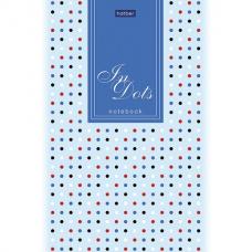 Блокнот А5 (146х205 мм) 50 л., склейка, ламинированная бумага, в точку, HATBER Premium, 'Dots', 50Б5лA9к