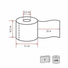 Бумага туалетная KIMBERLY-CLARK Scott, 2-слойная, спайка 96 шт. х 25 м, 'Performance', 8559