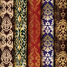 Бумага упаковочная мелованная 70х100 см ЗОЛОТАЯ СКАЗКА 'Damask Luxury', 5 дизайнов, 70 г/м2, 591590