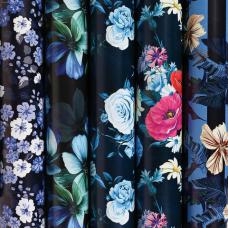 Бумага упаковочная мелованная 70х100 см ЗОЛОТАЯ СКАЗКА 'Night Flowers', 5 дизайнов, 70 г/м2, 591588