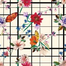 Бумага упаковочная мелованная 70х100 см ЗОЛОТАЯ СКАЗКА 'Vintage Flowers', 5 дизайнов, 70 г/м2, 591587