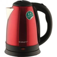 Чайник SCARLETT SC-EK21S76, 2 л, 1800 Вт, закрытый нагревательный элемент, сталь, красный