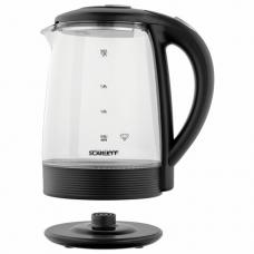 Чайник SCARLETT SC-EK27G68, 1,9 л, 1500 Вт, закрытый нагревательный элемент, стекло, черный