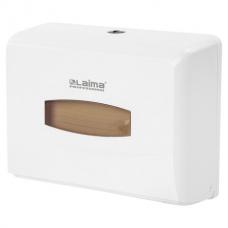 Диспенсер для полотенец LAIMA PROFESSIONAL (Система H2), Interfold, малый, белый, ABS-пластик, 606678