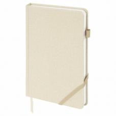 Ежедневник недатированный А5 (138x213 мм) BRAUBERG 'Finest', 136 л., кожзам, резинка, бежевый, 111871