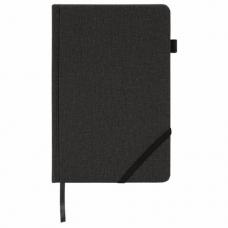 Ежедневник недатированный А5 (138x213 мм) BRAUBERG 'Finest', 136 л., кожзам, резинка, черный, 111869