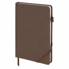 Ежедневник недатированный А5 (138x213 мм) BRAUBERG 'Finest', 136 л., кожзам, резинка, коричневый, 111870