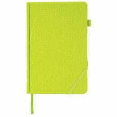 Ежедневник недатированный А5 (138x213 мм) BRAUBERG 'Finest', 136 л., кожзам, резинка, зеленый, 111868