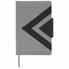 Ежедневник недатированный А5 (138x213 мм) BRAUBERG 'Waves', 160 л., кожзам, черный/серый, 111875