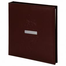 Фотоальбом BRAUBERG 'Alpha' 20 магнитных листов, 23х28 см, под гладкую кожу, коричневый, 391179