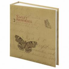 Фотоальбом BRAUBERG 'Бабочка, крафт' на 200 фото 10х15 см, твердая обложка, термосварка, 391164