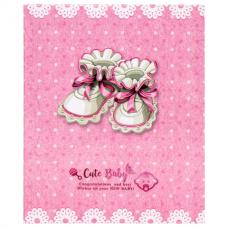 Фотоальбом BRAUBERG 'Baby shoes' на 200 фото 10х15 см, твердая обложка, термосклейка, розовый, 39114