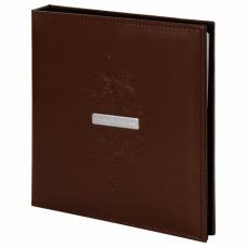 Фотоальбом BRAUBERG 'Beta' 20 магнитных листов, 23х28 см, под гладкую кожу, коричневый, 391180