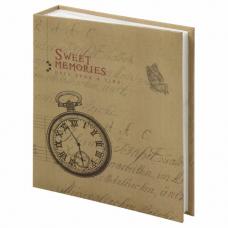 Фотоальбом BRAUBERG 'Часы, крафт' на 200 фото 10х15 см, твердая обложка, термосварка, 391165