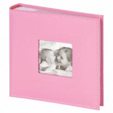 Фотоальбом BRAUBERG 'Cute Baby' на 200 фото 10х15 см, под кожу, бумажные страницы, бокс, розовый, 391141