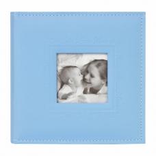 Фотоальбом BRAUBERG 'Cute Baby' на 200 фото 10х15 см, под кожу, бумажные страницы, бокс, синий, 391142