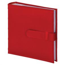 Фотоальбом BRAUBERG на 200 фото 10х15 см, под кожу, бумажные страницы, бокс, красный, 391193
