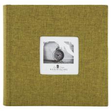 Фотоальбом BRAUBERG на 300 фото 10х15 см, ткань, хаки, 391188