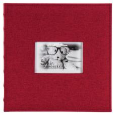 Фотоальбом BRAUBERG на 500 фото 10х15 см, ткань, бордовый, 391187
