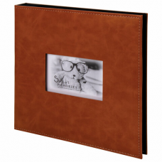 Фотоальбом BRAUBERG 'Premium Brown' 20 магнитных листов 30х32 см, под кожу, коричневый, 391185
