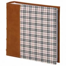 Фотоальбом BRAUBERG 'Шотландка' на 200 фото 10х15 см, под кожу, бумажные страницы, бокс, 391192