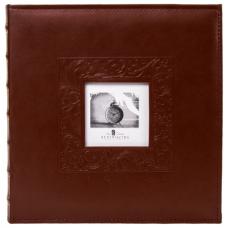 Фотоальбом BRAUBERG 'Smooth brown' на 500 фото 10х15 см, под гладкую кожу, коричневый, 391177