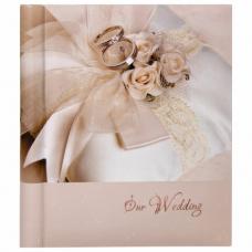 Фотоальбом BRAUBERG свадебный 'Наша свадьба' 20 магнитных листов, 23х28 см, спираль, 391154