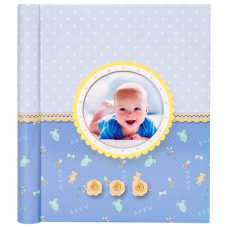 Фотоальбом BRAUBERG 'Sweet Dreams' 20 магнитных листов, 23х28 см, спираль, голубой, 391149