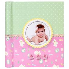 Фотоальбом BRAUBERG 'Sweet Dreams' 20 магнитных листов, 23х28 см, спираль, розовый, 391150