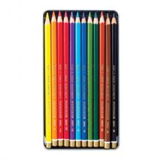 Карандаши цветные художественные 12 ЦВЕТОВ KOH-I-NOOR 'Polycolor', 3,8 мм, металлическая коробка, 3822/12, 3822012002PL