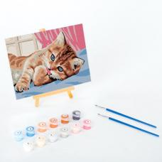 Картина по номерам 15х20 см, ЮНЛАНДИЯ 'Котёнок', на подрамнике, акрил, кисти, 662502