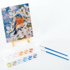 Картина по номерам 15х20 см, ЮНЛАНДИЯ 'Птица в цветущем саду', на подрамнике, акрил, кисти, 662506
