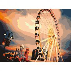 Картина по номерам 40х50 см, ОСТРОВ СОКРОВИЩ 'Чертово колесо', на подрамнике, акриловые краски, 3 кисти, 662460