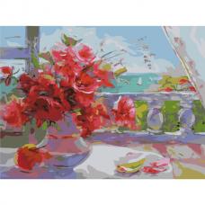 Картина по номерам 40х50 см, ОСТРОВ СОКРОВИЩ 'Прекрасное утро', на подрамнике, акриловые краски, 3 кисти, 662481