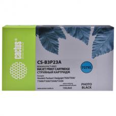 Картридж струйный CACTUS (CS-B3P23A) для HP DesignJet T920/T1500, фото черный, 130 мл