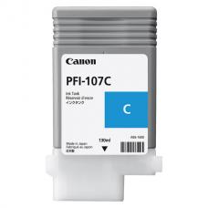 Картридж струйный CANON (PFI-107C) iPF680/685/780/785, голубой, оригинальный, ресурс 130 мл, 6706B001