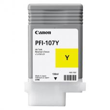Картридж струйный CANON (PFI-107Y) iPF680/685/780/785, желтый, оригинальный, 130 мл, 6708B001