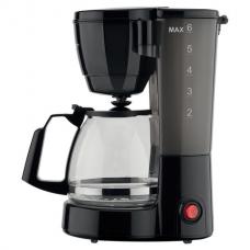 Кофеварка капельная SCARLETT SC-CM33018, объем 0,75 л, мощность 600 Вт, подогрев, пластик, черная