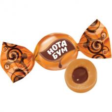 Конфеты ирис жевательный ЯШКИНО 'Нота Бум', с орехово-шоколадной начинкой, пакет, 500 г, НК160
