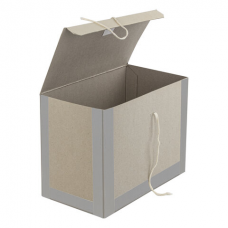 Короб архивный 410х300х200 мм, переплетный картон/бумвинил, завязки, до 1700 л., STAFF, 112162